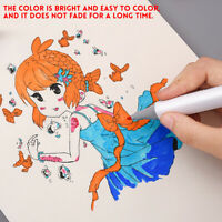 60 Color Artist Colorful Dual Head Sketch Drawing Markers Pens Set  Student