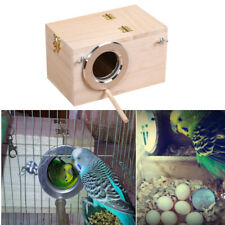 AU Wooden Small Bird Parrot Breeding Nest Box Nesting Budgie House Cage Home