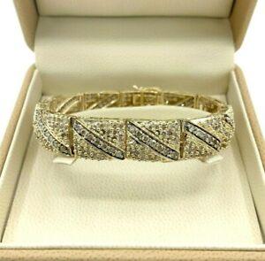 9.00 Carats t.w. Fancy Light Brown Diamond Tennis Bracelet Solid Yellow Gold