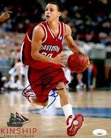 Stephen Curry signed 8x10 Photo JSA COA Vintage Auto Davidson Warriors HOF B711