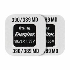 2 X Energizer Argent Oxyde 390/389 Piles 1.55V SR1130SW V389 SR54