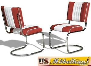 CO-27 Ruby Bel Air Furniture 2 Chairs Swingstuhl Diner Kitchen USA