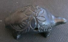 Vintage Black Pottery Turtle w/ pattern-Musiacal for ceremonies