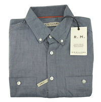 RM Williams Mens Gatton Button Down 1/2 Button Short Sleeve Shirt Size S NEW