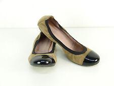 Pretty bailarinas talla 38/negro-marrón & lujo pur (l 2098)