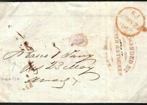 USA PIONEER STEAMSHIP COVER 1848 Mexico EL MAIDEN VOYAGE Cunard *America* 293a