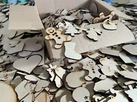 Hearts Clearance Wholesale Joblot Laser Cut Wooden MDF Love Heart Craft Shapes