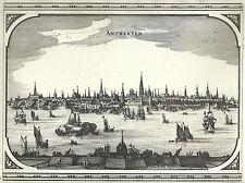 Antique map, Antwerpen