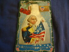 "Unused Vintage Postcard ""Washington is Patriotism"" Excellent Graphics"