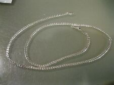 "4MM 925 Sterling Silver CUBAN LINK Necklace Chain 18"" inch Men Women"