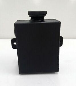 1.2L Universal Aluminum Radiator Overflow Coolant Tank Expansion Tank Black