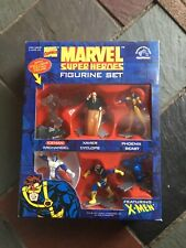 "MARVEL COMICS SUPER HEROES X-MEN APPLAUSE FIGURE SET 1997 MIB 3"" SP"