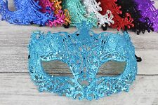 Sparkling Glitter Masquerade Mask Party Ball Wedding 9 Colours Photo Booth Prop