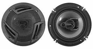 """Pair Rockville RV6.3A 6.5"""" 3-Way Car Speakers 750 Watts/140 Watts RMS CEA Rated"""