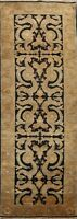 Floral Agra Long Oriental Runner Rug Wool Hand-knotted Hallway Black Carpet 4x12