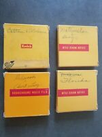 Vtg Lot of 4 Kodachrome 16mm Film 1950s 1960s Vacation Travel Summer Home Movies