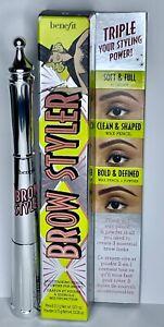 Benefit Brow Styler Eyebrow Pencil & Powder Duo NIB 5 Warm Black Brown $34