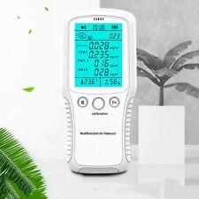 Air Quality Monitor PM2.5 PM10 Formaldehyde HCHO TVOC LCD Digital Detector 8In1