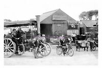 rp17893 - Cornwall , Wards Garage , Traction Engine - photograph 6x4