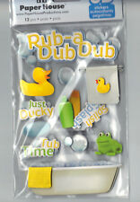 Paper House RUB A DUB DUB (12) 3-D MULTI-LAYERED Stickers scrapbooking TUB TOWEL
