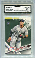 2017 Aaron Judge Topps Holiday Rookie Gem Mint 10 #HMW99