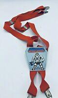 Vintage 1983 Mattel Inc ''Masters Of Universe'' Heman Red Suspenders for Kids