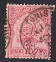 TUNISIE-  N°:18  OBLITÉRÉ-sans défauts  - COTE: 110 €