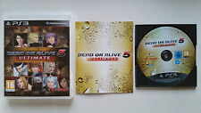 Dead or Alive 5 Ultimate PS3 / Fr / complet / b-r sans rayure / envoi gratuit