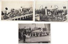 BOURNEMOUTH Passengers on Emperor & Queen Pleasure Boats 3x RP Postcards c1930s