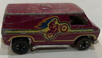 Vintage 1974 Hot Wheels Redline Flying Colors Motocross Super Van Plum