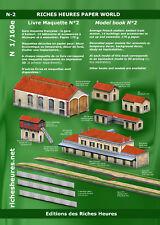 Livre maquette N n°2 - La gare d'Ambert : 14 bâtiments à assembler
