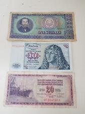 3 MONETE BANCONOTE LEI Romania 100  JUGOSLAVIJE 20  Mark 10 germania BANCONOTA