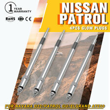 4X Glow Plugs FIT NISSAN ZD30 DDTI Turbo Diesel for Navara D22 Patrol GU Durable