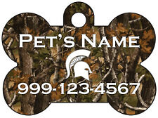 New listing Michigan State | Realtree Camo Pet Id Dog Tag | Personalized for Your Pet