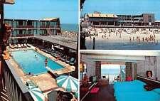 Seaside Heights New Jersey Aztec Motel Pool View Vintage Postcard K50179