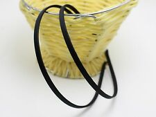 10 Black Metal Headband Covered Satin Hair Band 5mm for DIY Craft