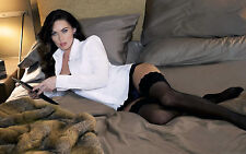 Megan Fox 8X10 sexy stockings panties and white dress shirt seconf angle