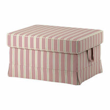 * IKEA EKTORP Repose-Pieds Couverture-Mobacka BEIGE/ROUGE 302.811.88