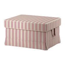 Ikea Ektorp Footstool Cover - Mobacka Beige/Red 302.811.88