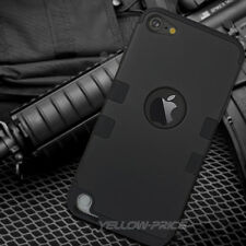 Cool Black Case Hybrid 3 Layer Heavy Duty Case Armor For Apple iPod Touch 6 5
