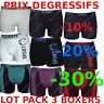 Lot Pack 3 Boxer Homme coton S M L XL XXL men short pas cher no ck v4