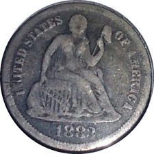 1883 10C Liberty Seated Dime Silver full date nice obverse