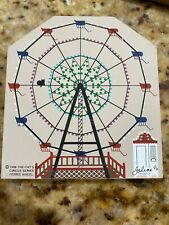 The Cat's Meow Village Sideshow Circus Series Wood Ferris Wheel