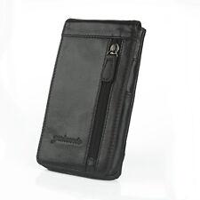 Men's Genuine Leather Belt Fanny Pack Hook Hip Cell Phone Waist Purse Bag Pouch