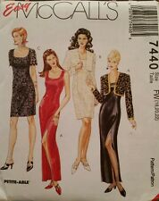7440 Uncut McCall's Sewing Patterns For Misses' Dresses in 2 Lengths Size 18-22