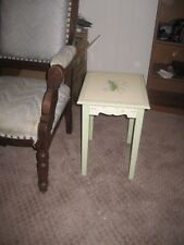 Small End Table  Chair Side Narrow Wooden Home Living Room Furniture white