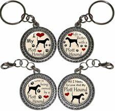 Plott Hound Dog Key Ring Purse Charm Zipper Pull Key Chain Handmade Gift