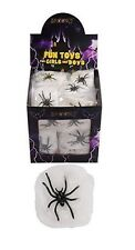 4 Mini Spider Webs cobweb Halloween - Spooky Party Bag Single Spiders Decoration