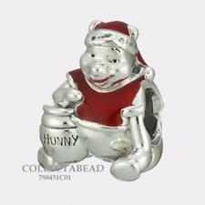 Authentic PANDORA Silver Winnie the Pooh Hunny Pot Christmas Charm 798451C01