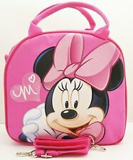 Disney Minnie Mouse Lunch Box Bag with Shoulder Strap and Water Bottle-New!